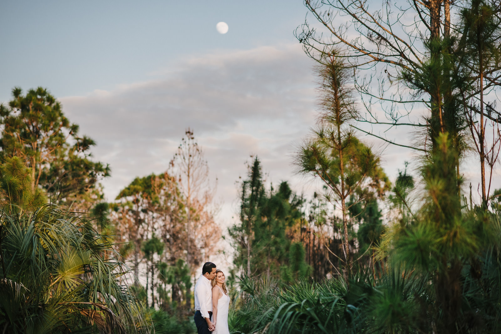 Evening Walk In The Woods And Beach Engagement Photography